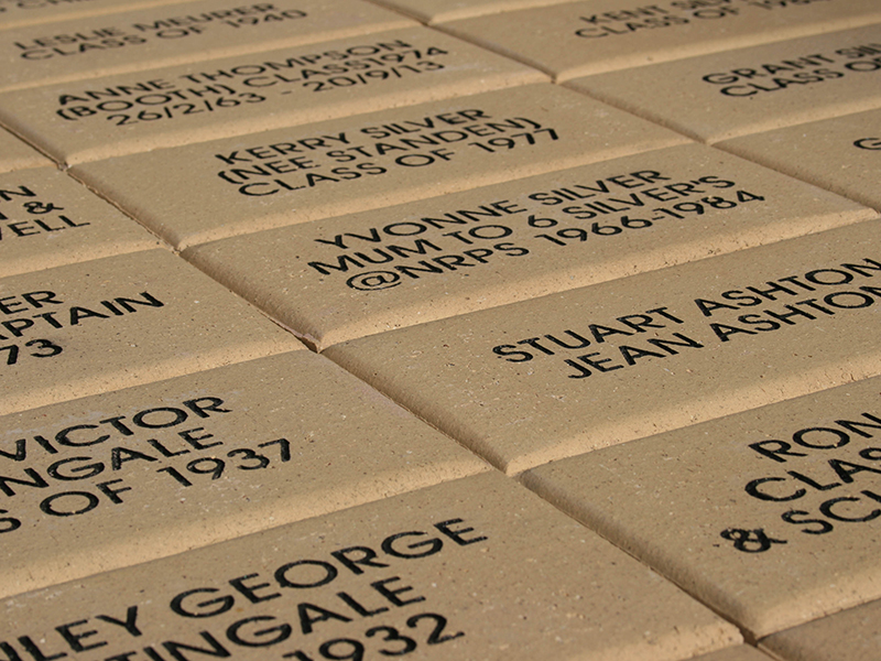 commerative paving bricks